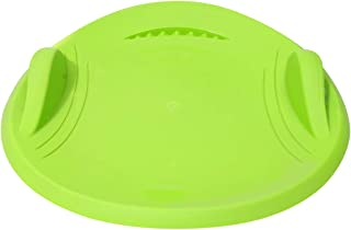 GARNECK Snow Saucer Sleds Round Sand Slider Disc Plastic Saucer Disc Snow Sled with Handles for Adults and Kids Green