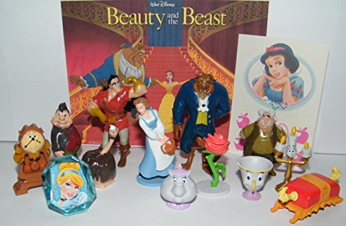 Beauty and The Beast Movie Deluxe Party Favors Goody Bag Fillers Set of 14 with Figures, a Tattoo Sheet, ToyRing Featuring The Beast, Belle, Lumiere, Gaston and More!