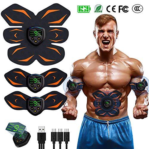 EGEYI Muskelstimulation Elektrostimulation EMS Trainingsgerät Professionelle USB Wiederaufladbar,Muscle Maschine für Herren Damen Arm & Bein Trainer Gym Home Workout Maschine