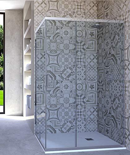 HYDRA Box Doccia angolare Porta Scorrevole 60x90 cm Trasparente