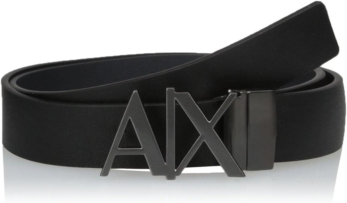 AX Armani Exchange Men's Skinny Leather Logo Belt