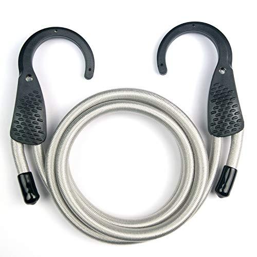 micagos 48 Blu/Nero Corda Elastica Regolabile con Apertura Ampia Ganci in Acciaio