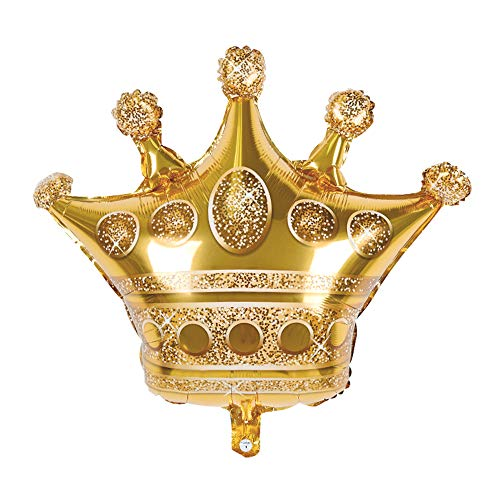 Vindar 50 Stück Mini Gold Crown Luftballons 30 x 29 cm Golden Crown Crown Folien Luftballons für Geburtstag Hochzeit Weihnachtsfeier Halloween Baby Shower Dekoration (Gold)