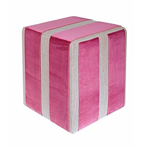 Kaikoon Pouf Cube Plastique Mauve Dimensions : 35 cm X 35 cm x 42 cm