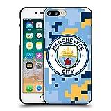 Head Case Designs Licenciado Oficialmente Manchester City Man City FC Club Camuflaje Digital Funda de Gel Negro Compatible con Apple iPhone 7 Plus/iPhone 8 Plus