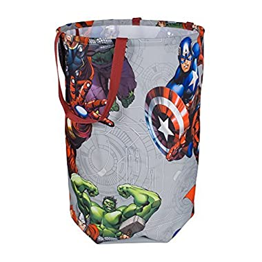 Avengers Collapsible Kids Laundry Hamper by Marvel - Pop up Portable Children's Clothes Basket for Closet, Bedroom, Boys & Girls Clothes - Foldable Laundry Bin with Strong Handles & Design