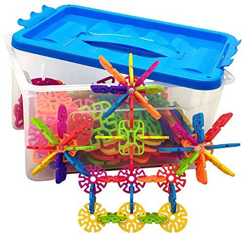 Detazhi Bloque de Madera 100 Plastic Disc Set Builder Toys Juguetes educativos para niños y niñas Adecuado para niños Mayores de 3 años (Color: Multicolor, Tamaño: 29 * 19.5 * 16)