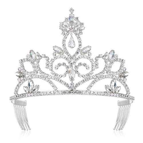 DcZeRong Birthday Queen Crown Tiara Prom Queen Crowns Rhinestone Tiaras and Crowns for Women Crowns Pageant Crowns Wedding Bridal Tiaras Crowns