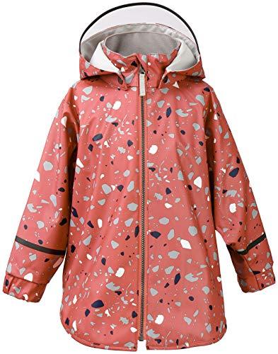 Didriksons Mädchen Regenjacke Jacke Edlyn Kids Cape 3 Winddicht elastisch (988 Pink Blush Terazzo Orig, 100)