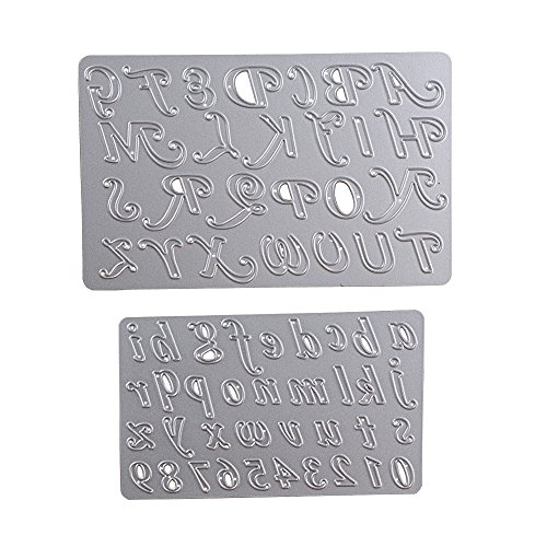 2 pz Fustelle Stencil Lettere Numeri Cutting Dies per DIY Scrapbooking Album di Carta del Mestiere Biglietti per Goffratura