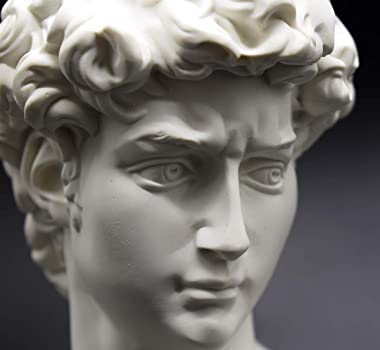 "David Statue Resin Sculptures Statues, Office Bookshelf Decor, 6"" Portrait Sculpture Resin Handcraft Home Decor Gift for"