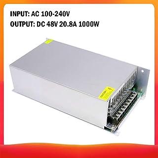 AC 100-240V a DC 48V 20.8A 1000W Transformador de voltaje Conmutación regulada Fuentes de alimentación Adaptador Convertidor para tiras Luz Cámara Proyecto de computadora Radio