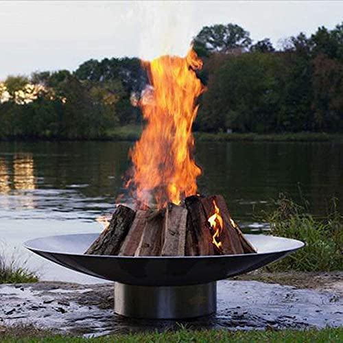 WGFGXQ Large Outdoor Fire Pit, Outdoor heater Wood Burning, Oversize Round Firebowl, Heavy Duty Metal Fireplace for Charcoal Burning, Heavy Duty Patio Firepit,31inch (80cm)