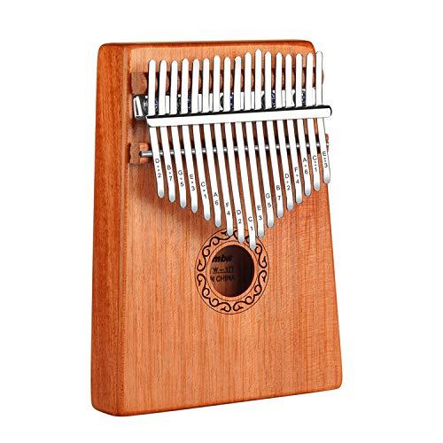 Kalimba Thumb Piano, OwnZone Kalimba17 Keys Thumb Piano with Study Instruction & Tune Hammer, Portable Musical Instrument Mbira Wood Finger Piano Christmas Gift for Music Fans Kids Adults Beginners