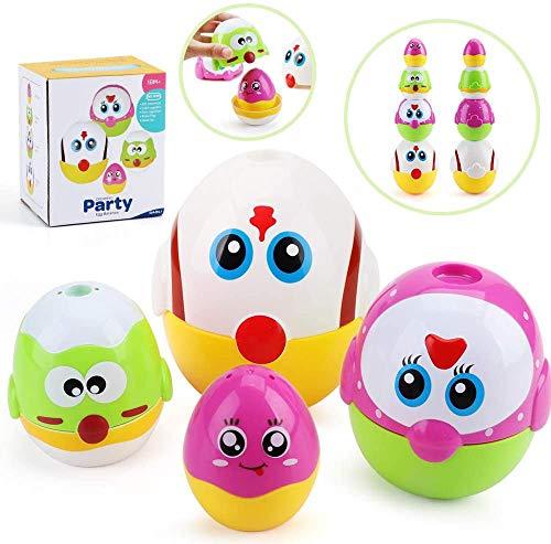 Nicknack uova di nidificazione giocattolo, uova di Pasqua impilabili giocattoli per ragazze ragazzi, simpatici giocattoli educativi per famiglie di polli per bambini piccoli