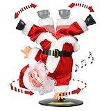 Christmas Electric Singing santa claus toy Inverted Rotate Singing Dancing Santa Doll Toys Xmas ornament Santa Claus musical for Kids