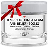 Premium Hemp Pain Relief Cream - Pure 500mg Extract - Relieves Muscle, Back & Joint Pain - Reduces...