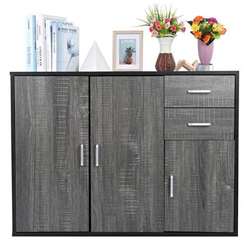 Cerlingwee Aparador para el hogar, aparador, aparador de Gran Capacidad, Estilo Moderno para la Sala de Estar de la Cocina del hogar