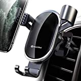 DesertWest Car Vent Phone Mount Auto Clamping Gravity Hands-Free Phone Holder Stably and Securely Compatible with iPhone 11 Pro Max/ XR/XS Max/XS/X/8/8 Plus/7/7 Plus, Galaxy S20 S10 Note 10 Plus