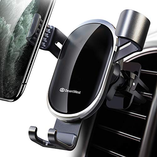 DesertWest Car Vent Phone Mount Hands-Free Phone Holder Securely Compatible with iPhone 11 Pro Max/XR/XS Max/XS/X/8/8 Plus/7/7 Plus, Galaxy S10 Note 10 Plus and More