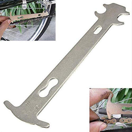YOUNICER Bicycle Chain Wear Indicator Tool Bike Chain Ruler Measuring Chain Wear Degree