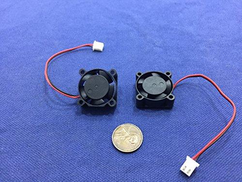 2piezas BXR 25mm x 25x 10Sin Escobillas Ventilador de refrigeración Pequeño Micro Flujo CFM 12V C11