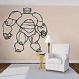 wZUN Sala de Estar Familiar y decoración de la habitación de los niños Pegatina de Dibujos Animados de Robot Gordo clásico Desmontable 57X57cm