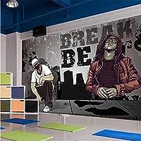 HGFHGD ダンスユースストリートダンス3Dリビングルーム壁画テレビ背景壁紙家の装飾壁紙ウォールステッカーウォールアート