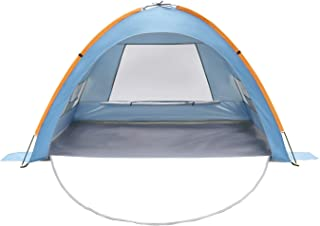 LINKE Beach Tent Sun Shlter, 4 Person Camping Sun Shade Canopy with Carry Bag, Easy to Assemble, XL Size, Blue