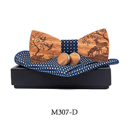 DYDONGWL stropdas voor heren, vlinderdas van hout, voor heren, gebreide accessoires, vliegen, blouse, vlinder, cadeau voor heren