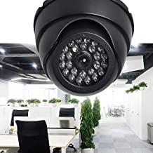 Surveillance Recorder Dummy Camera Outdoor CCTV IP Camera Home Surveillance Security Dome Mini Camera Black 26 Flashing Le...
