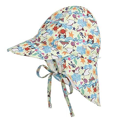 N/N Sombrero para El Sol del Bebé Protección Sombreros De Cubo Transpirables Sombreros Sunbonnet Recién Nacidos De Verano para Niños Niños Niña Sombreros De Bebé para Niños Bebé Niña-Crab_2_To_5T