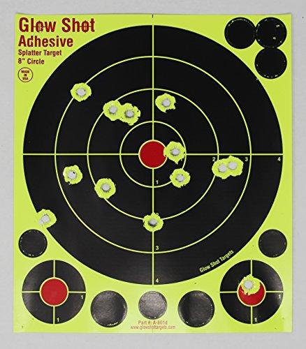 75 Pack - 8' Reactive Splatter Targets - Glowshot - Multi Color - Gun and Rifle Targets - Glow Shot