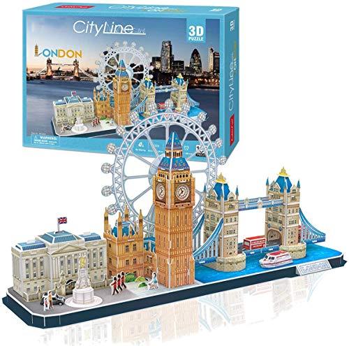 HYZY Puzzle 3D Cityline Londres De Arquitectura Construcció