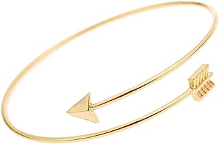 Hanloud Women Gold Plated Arrow Cuff Bracelet