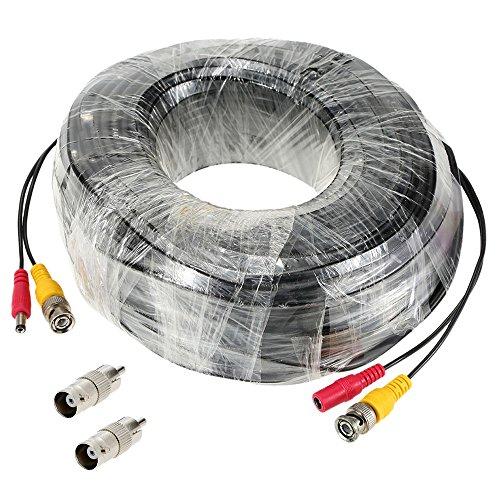 Cable de vídeo para cámaras de vigilancia de circuito cerrado CCT y DVR (conectores BNC macho y de alimentación)
