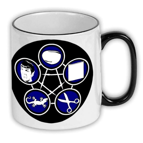 FunTasstic Cup Stone Schaar Papier Echt Spock KoffiePott (T023)
