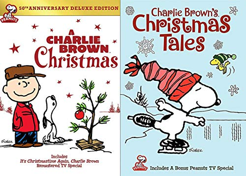 Snoopy Play Pack A Charlie Brown Christmas DVD Animated Cartoon 50th anniversary Winter Tales Movie Set