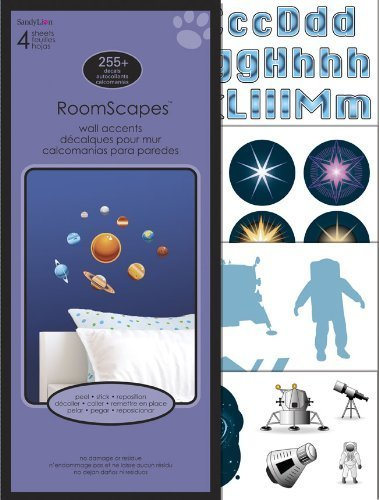 Sandylion Space Travel Roomscape Wall Accent Stickers by Sandylion