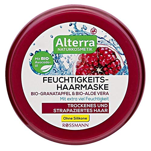 Alterra Feuchtigkeits-Haarmaske Bio-Granatapfel & Bio-Aloe Vera, 200 ml