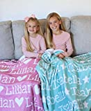 Personalized Name Blanket for Your Daughter, Customized Name Baby Blankets for Girls, Name Blanket for Daughter, Personalized Baby Blanket with Name for Girls. Great Gift for Birthday, Christmas