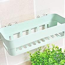 JEEJEX Plastic Inter Design Bathroom Kitchen Organize Shelf Rack Shower Corner Caddy Basket with Sticker No Driling Required (1pc) (Assorted Color)