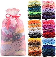 60 Pcs Premium Velvet Hair Scrunchies Hair Bands for Women or Girls Hair Accessories with Gift Bag,Great Gift for...