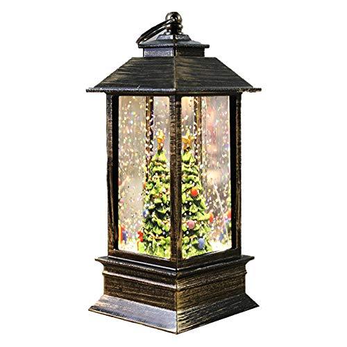Weihnachtslaterne Deko Ventilator Laterne Deko Schneekugel Weihnachten LED-Laterne Warmweiß Deko Laterne
