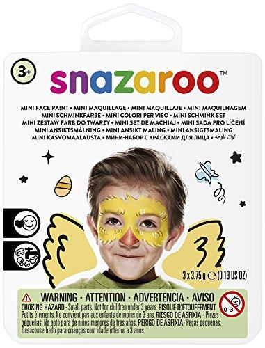 Snazaroo Pollito pintura facial, color negro, amarillo, rojo