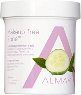 Almay Oil, Free Eye Makeup Remover Pads for Unisex - 80 Piece pads