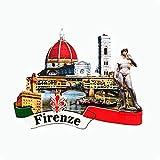 Florencia Italia imán de nevera 3D artesanía recuerdo resina imanes refrigerador colección regalo de viaje