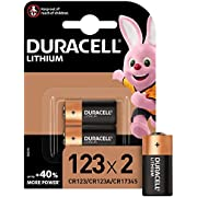 Duracell High Power Lithium 123 Battery 3 V, Pack of 2 (CR123 / CR123A / CR17345) for Arlo Cameras, Photo Flash, etc