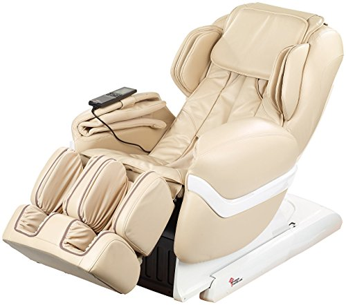newgen medicals Ganzkörpermassagesessel Ganzkörper-Massagesessel GMS-150 mit Infrarot-Wärme, beige (Fernsehsessel)