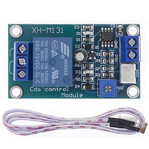 CXMY Tablero de relé Interruptor DC 12V 10A de Control de la luz del Sensor de detección Módulo de relé Fotorresistor Brillo Módulo de Control Automático para Control de automatización.